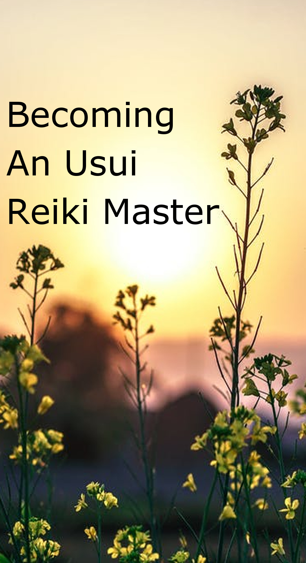 Becoming An Usui Reiki Master