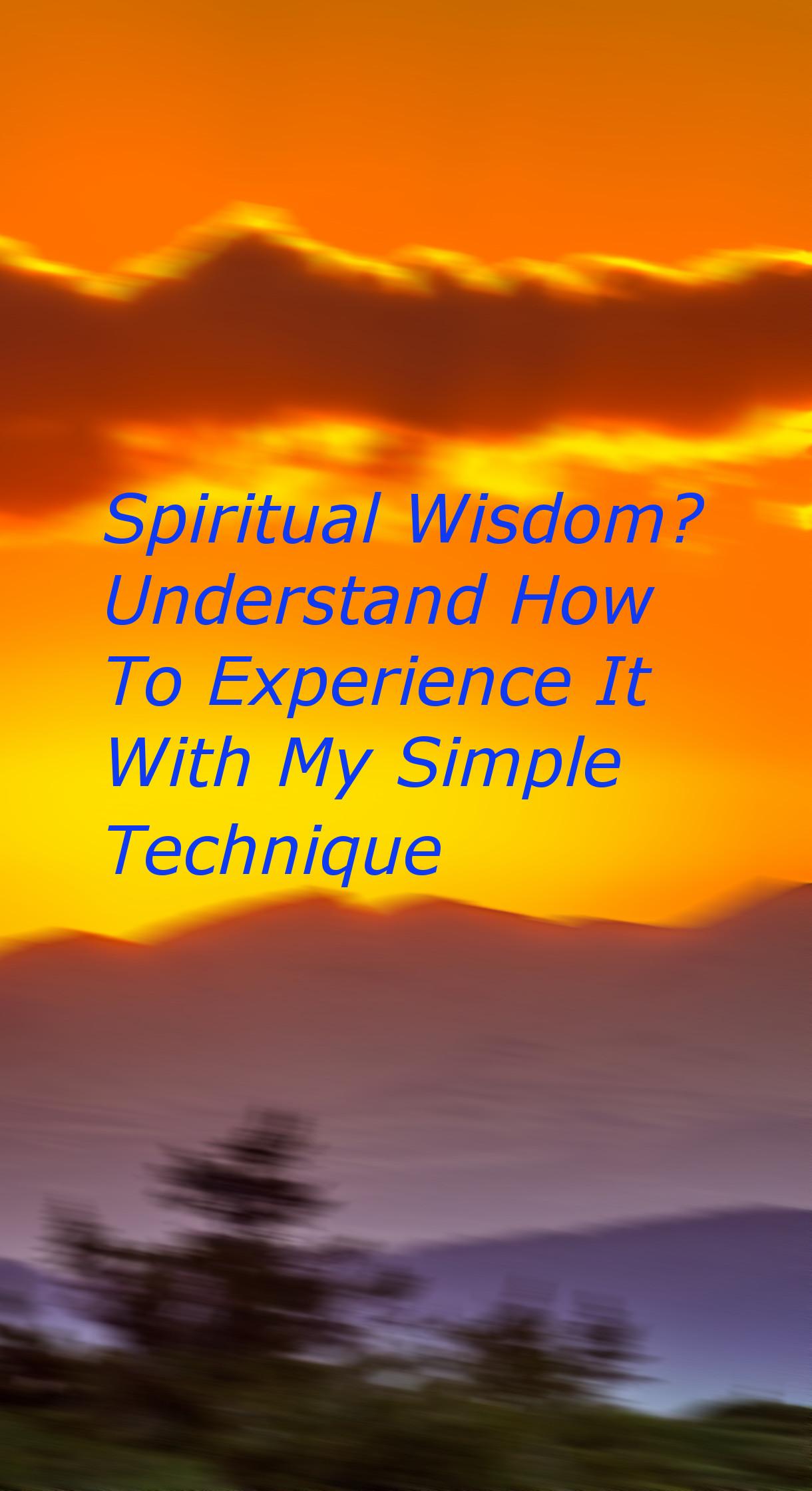 Spiritual Wisdom Understanding